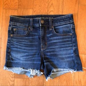 American Eagle Hi-Rise Shortie Shorts sz 2